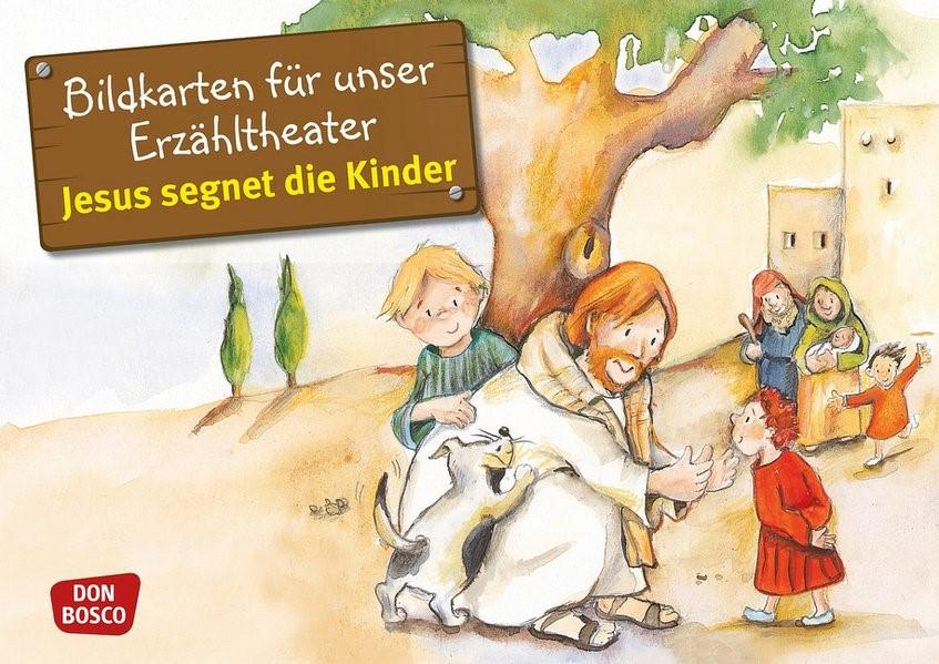 Jesus segnet die Kinder. Kamishibai Bildkartenset | Brandt / Nommensen | Nachdruck, 2018 (Cover)