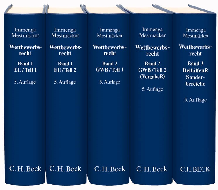 Wettbewerbsrecht | Immenga / Mestmäcker | 5. Auflage, 2016 | Buch (Cover)