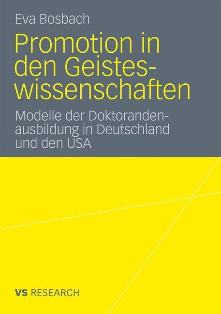 Promotion in den Geisteswissenschaften | Bosbach, 2011 | Buch (Cover)