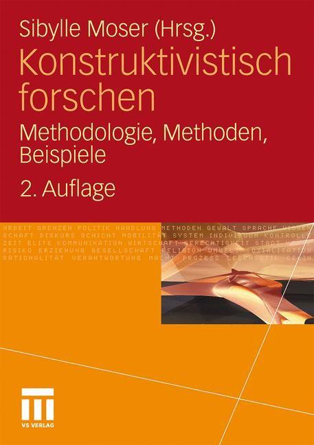 Konstruktivistisch forschen   Moser, 2011   Buch (Cover)
