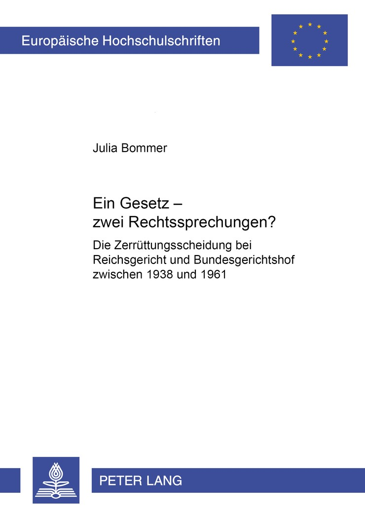 Abbildung von Bommer   Ein Gesetz – zwei Rechtsprechungen?   2008