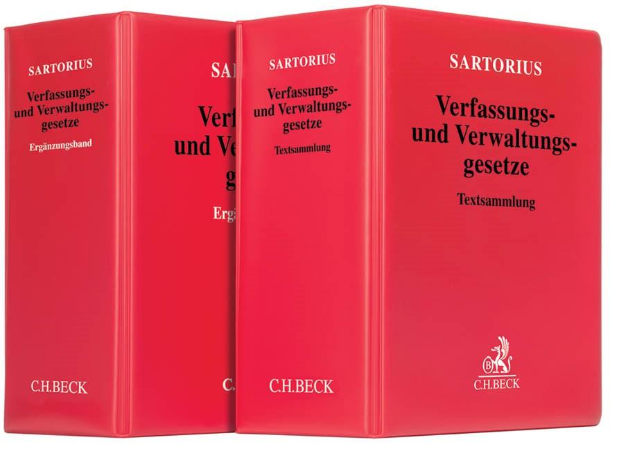 Verfassungs- und Verwaltungsgesetze: Textsammlung mit Ergänzungsband • Set | Sartorius, 2018 (Cover)
