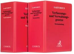 Abbildung von Sartorius   Verfassungs- und Verwaltungsgesetze: Textsammlung mit Ergänzungsband • Set   1. Auflage     beck-shop.de