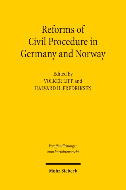 Reforms of Civil Procedure in Germany and Norway | Lipp / Fredriksen, 2011 | Buch (Cover)