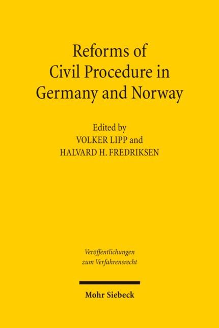 Abbildung von Lipp / Fredriksen   Reforms of Civil Procedure in Germany and Norway   2011