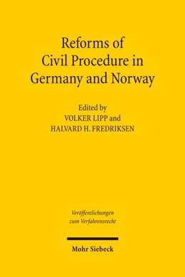 Abbildung von Lipp / Fredriksen | Reforms of Civil Procedure in Germany and Norway | 2011 | 83