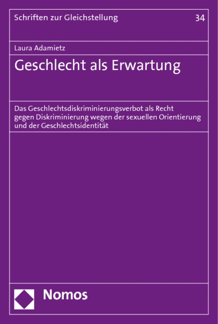 Geschlecht als Erwartung | Adamietz, 2011 | Buch (Cover)