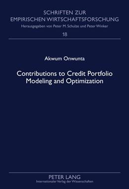 Abbildung von Onwunta | Contributions to Credit Portfolio Modeling and Optimization | 2011 | 18