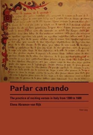 Abbildung von Abramov van Rijk | Parlar cantando | 2009