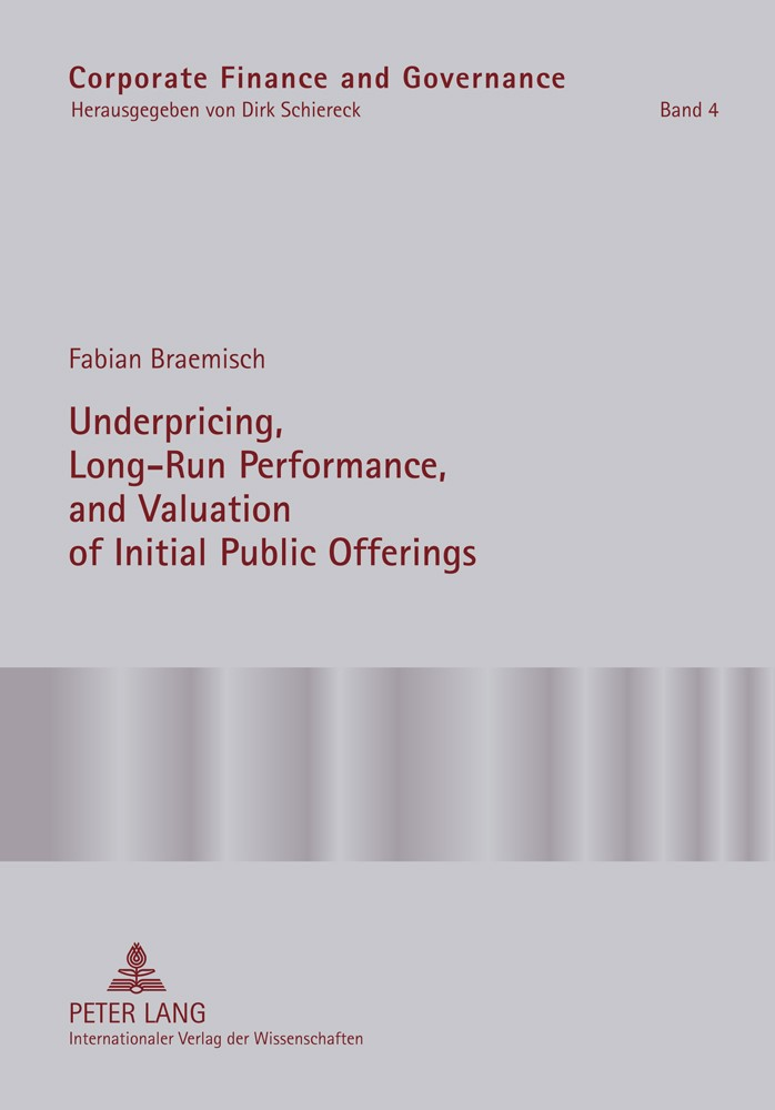 Underpricing, Long-Run Performance, and Valuation of Initial Public Offerings | Braemisch, 2011 | Buch (Cover)