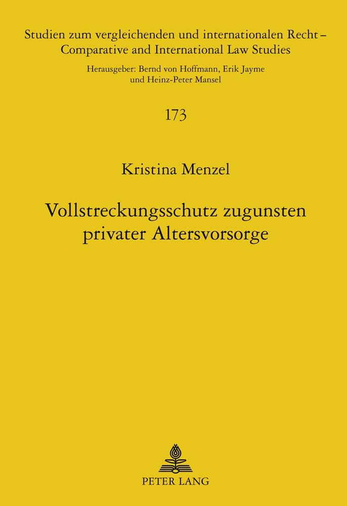 Abbildung von Menzel | Vollstreckungsschutz zugunsten privater Altersvorsorge | 2011