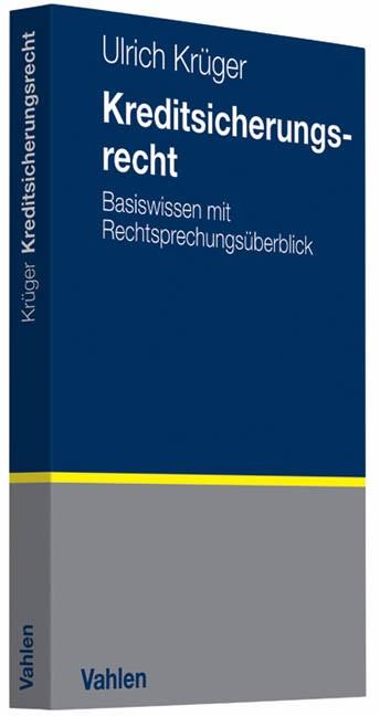 Kreditsicherungsrecht | Krüger, 2011 | Buch (Cover)