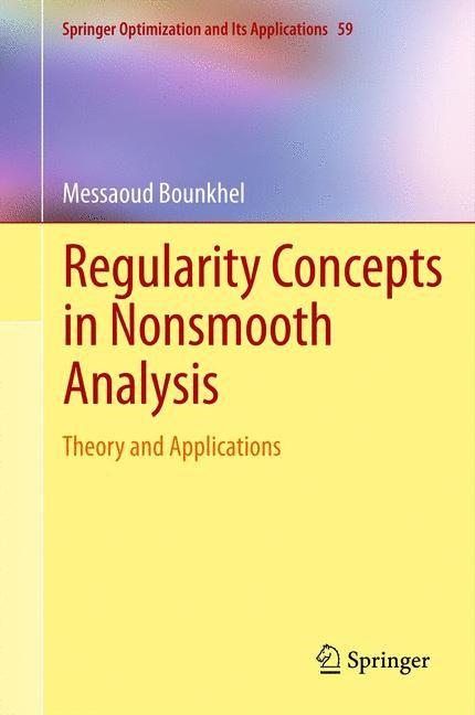 Regularity Concepts in Nonsmooth Analysis | Bounkhel, 2011 | Buch (Cover)