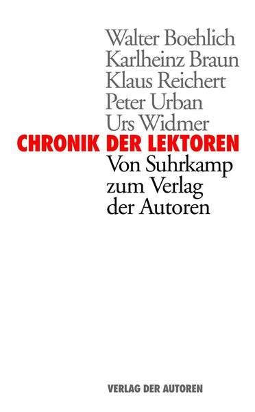 Chronik der Lektoren | Braun, 2011 | Buch (Cover)