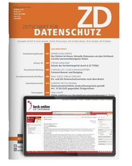 Abbildung von ZD • Zeitschrift für Datenschutz | 8. Auflage | 2021 | beck-shop.de
