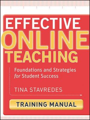Abbildung von Stavredes | Effective Online Teaching | 2011
