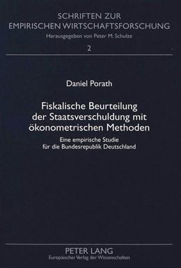 Abbildung von Porath   Fiskalische Beurteilung der Staatsverschuldung mit ökonometrischen Methoden   1999   Eine empirische Studie für die...   2