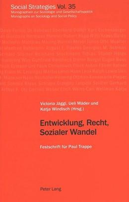 Abbildung von Jäggi / Windisch | Entwicklung, Recht, Sozialer Wandel | 1. Auflage | 2002 | 35 | beck-shop.de