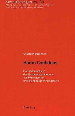 Abbildung von Bosshardt | Homo Confidens | 1. Auflage | 2001 | 33 | beck-shop.de