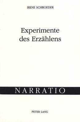 Abbildung von Schroeder | Experimente des Erzählens | 1998 | Joseph Roths frühe Prosa 1916-... | 13