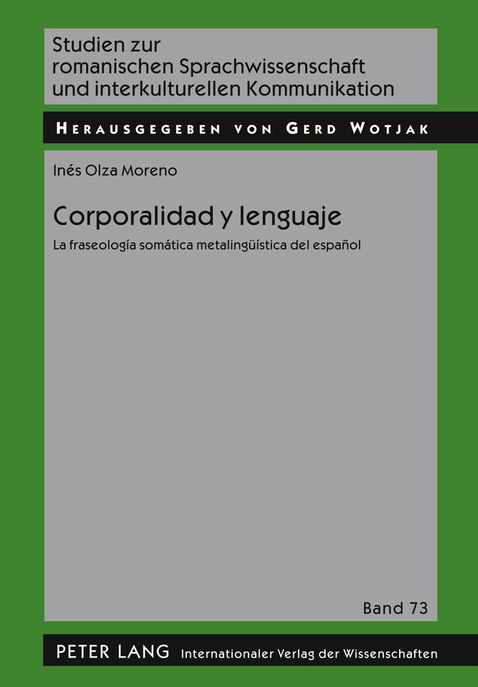 Corporalidad y lenguaje | Olza Moreno, 2011 | Buch (Cover)