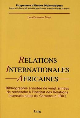 Abbildung von Pondi | Relations internationales africaines | 1993 | Une bibliographie annotée de 2...