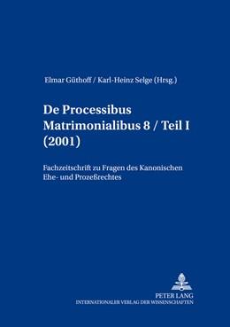 Abbildung von Selge / Güthoff   De processibus matrimonialibus   1. Auflage   2016   8.1   beck-shop.de