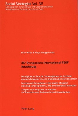 Abbildung von Zangger / Weiss | 31e Symposium International FESF Strasbourg | 1. Auflage | 2002 | 36 | beck-shop.de