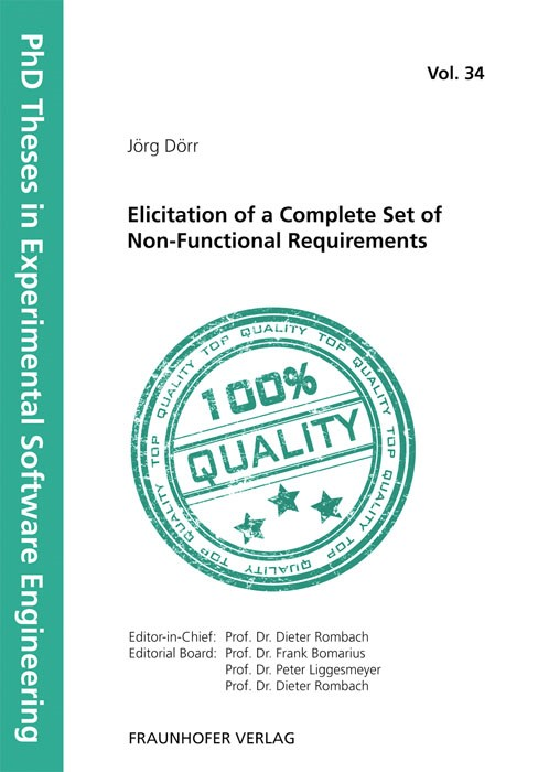 Elicitation of a Complete Set of Non-Functional Requirements | / Rombach / Liggesmeyer / Bomarius, 2011 | Buch (Cover)