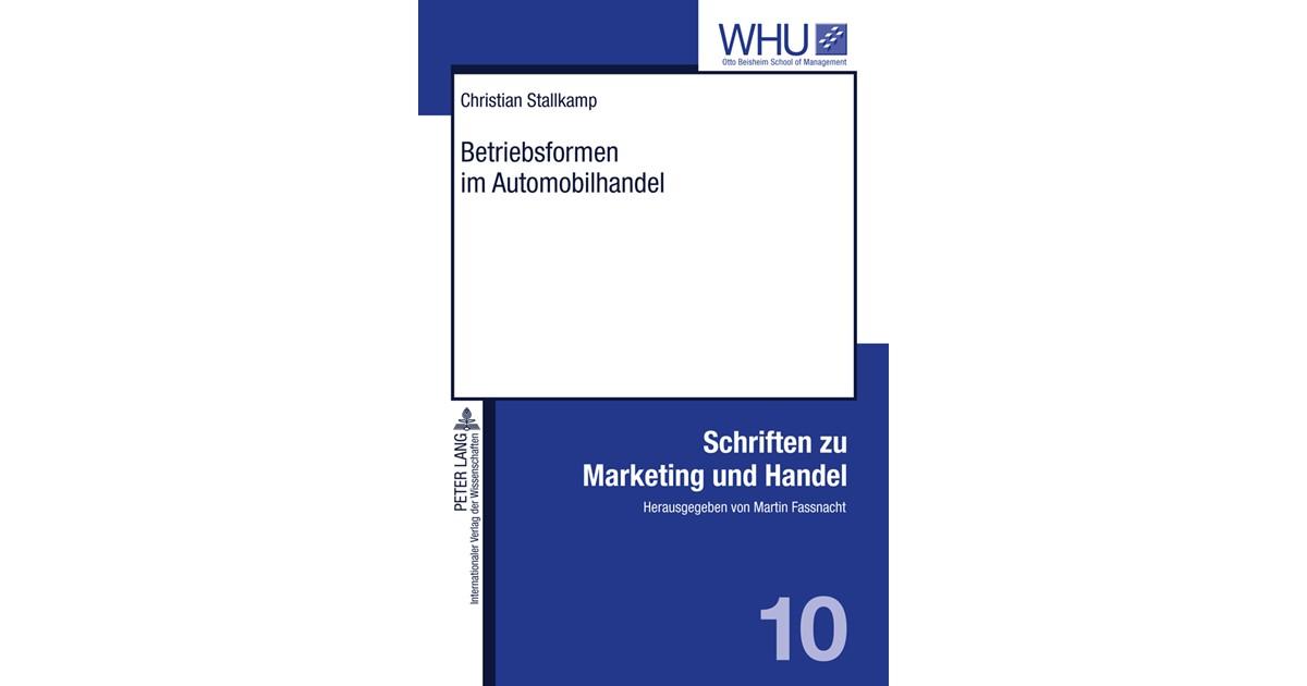 Stallkamp Betriebsformen Im Automobilhandel 2011