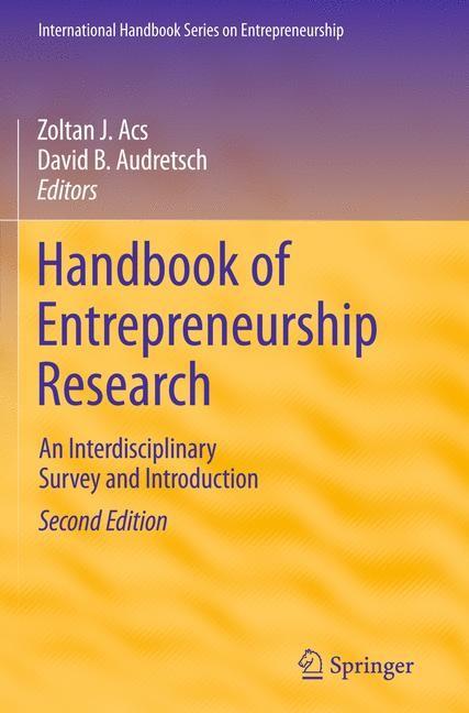 Handbook of Entrepreneurship Research | Acs / Audretsch, 2011 | Buch (Cover)