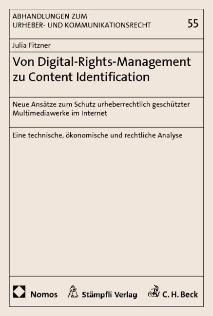 Von Digital-Rights-Management zu Content Identification | Fitzner, 2011 | Buch (Cover)