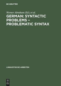 German: Syntactic Problems – Problematic Syntax | Abraham / Gelderen, 1997 | Buch (Cover)