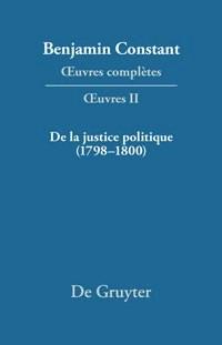 De la Justice politique (1798–1800), d'aprés l'«Enyuiry Concerning Political Justice» de William Godwin | Omacini / Hofmann | Reprint 2017, 1999 | Buch (Cover)
