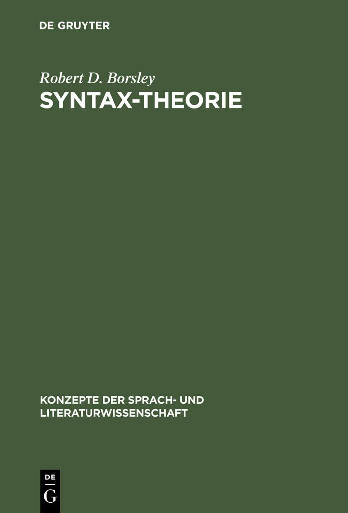 Syntax-Theorie | Borsley | Reprint 2013, 1997 | Buch (Cover)