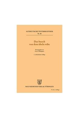 Abbildung von Ebbinghaus | Daz buoch von dem übeln wîbe | 2., neubearbeitete Auflage., 2nd rev. Edition | 1968