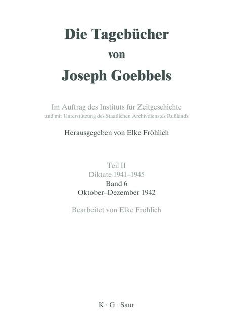 Oktober - Dezember 1942 | Mehringer, 1996 | Buch (Cover)