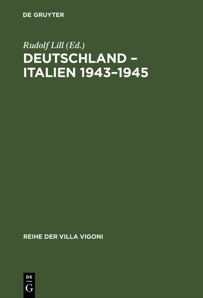 Deutschland – Italien 1943–1945 | Lill | Reprint 2018, 1992 | Buch (Cover)