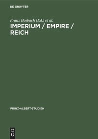 Imperium / Empire / Reich | Bosbach / Hiery | Reprint 2018, 1999 | Buch (Cover)