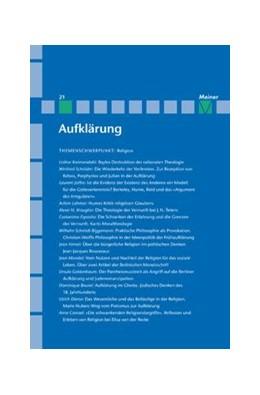 Abbildung von Kreimendahl / Neugebauer-Wölk / Vollhardt | Religion im Zeitalter der Aufklärung | 2010 | Aufklärung, Band 21 | 21