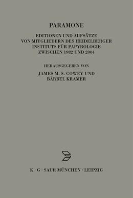 Abbildung von Kramer / Cowey | Paramone | 1st ed. | 2004 | Editionen und Aufsätze von Mit... | 16
