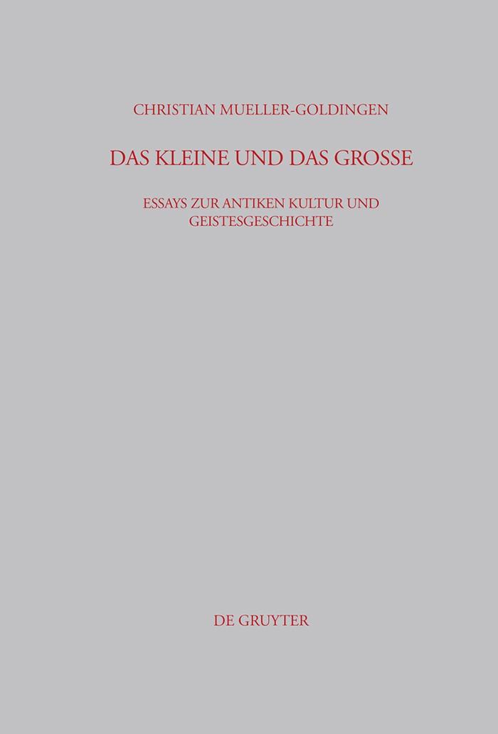Das Kleine und das Große   Mueller-Goldingen   1st ed., 2004   Buch (Cover)