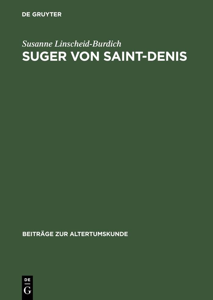 Abbildung von Linscheid-Burdich | Suger von Saint-Denis | 1st ed. | 2004
