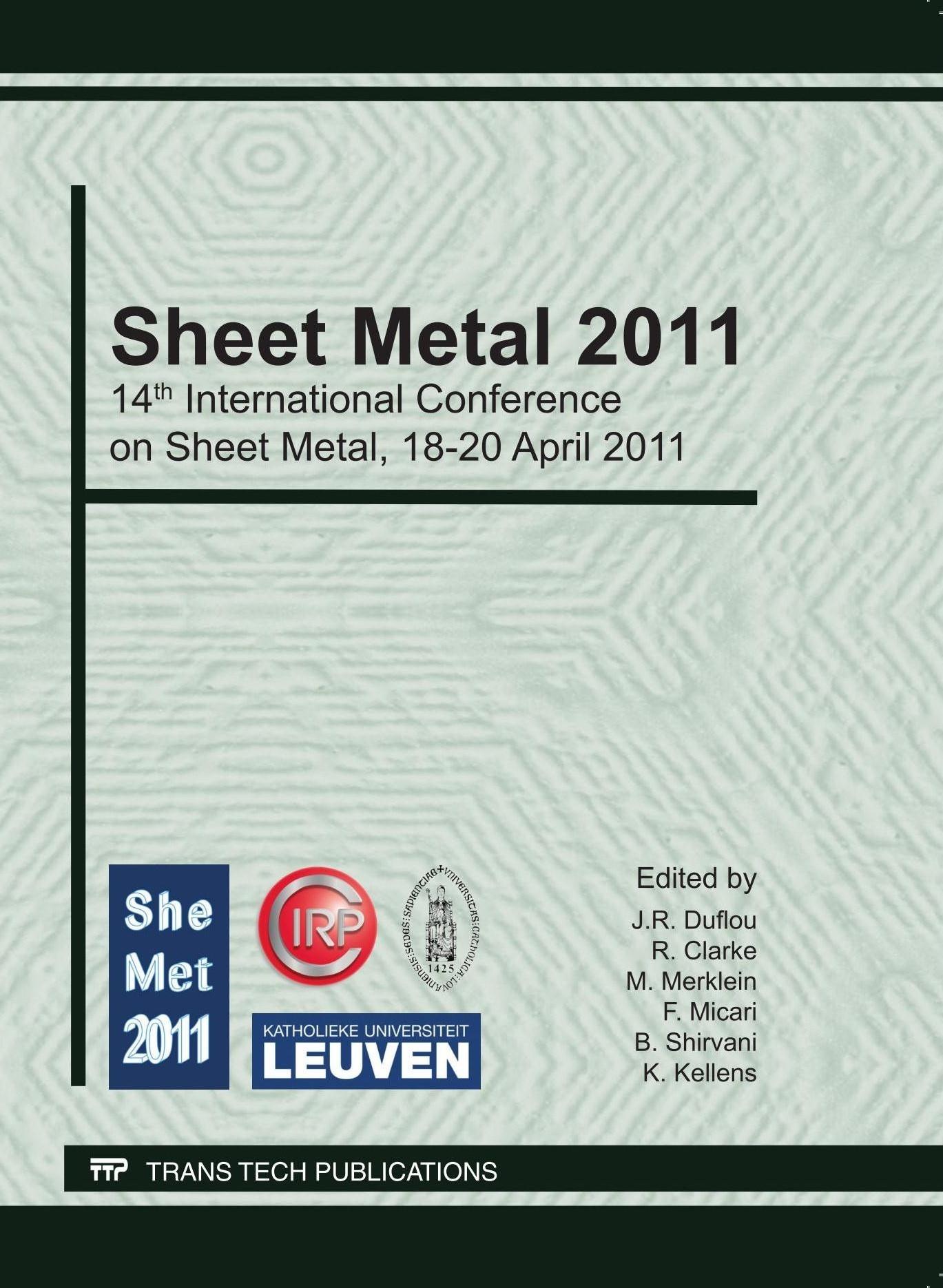Sheet Metal 2011 | Duflou / Kellens / Clarke, 2011 | Buch (Cover)