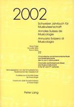 Schweizer Jahrbuch für Musikwissenschaft Annales Suisses de Musicologie Annuario Svizzero di Musicologia | / Willimann, 2005 | Buch (Cover)