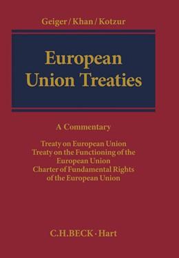 Abbildung von Geiger / Khan   European Union Treaties   1. Auflage   2014   beck-shop.de