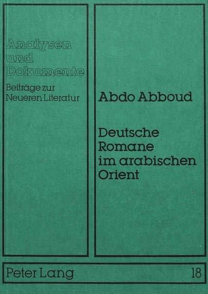 Deutsche Romane im arabischen Orient | Abboud, 1984 | Buch (Cover)