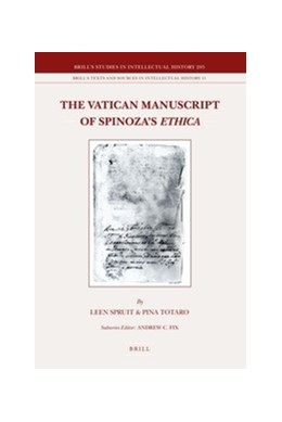 Abbildung von Spruit / Totaro | The Vatican Manuscript of Spinoza's Ethica | 2011 | 205/11