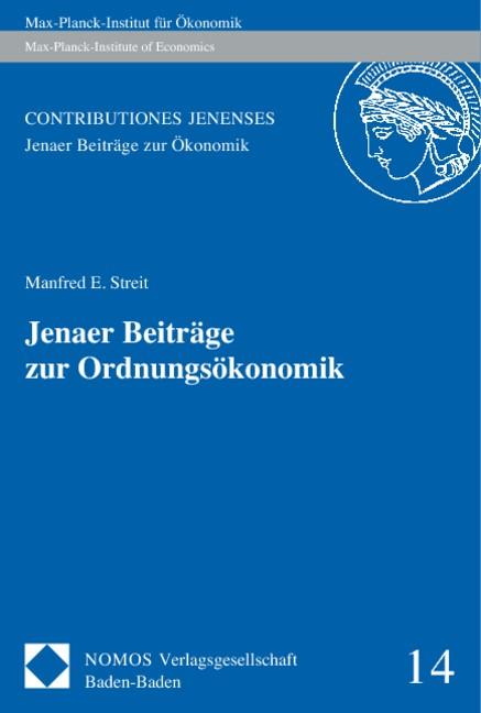Jenaer Beiträge zur Ordnungsökonomik | Streit | Buch (Cover)