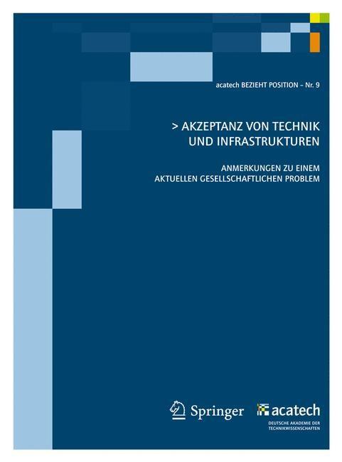 Akzeptanz von Technik und Infrastrukturen   acatech, 2011   Buch (Cover)